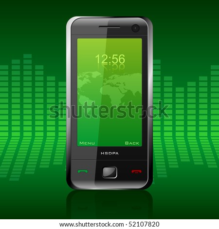 Modern communicator - stock photo