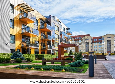 Apartment Exterior Stock Images Royalty Free Images Vectors
