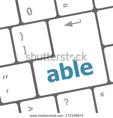Modern Computer Keyboard key with able text on it