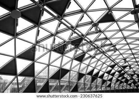 Modern conceptual high tech building - stock photo