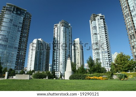 Modern Condominium Community - stock photo
