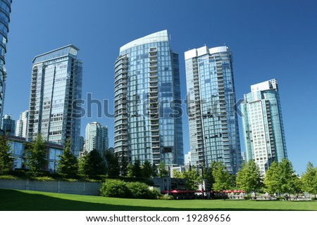 Modern Condominium Towers in Vancouver - stock photo