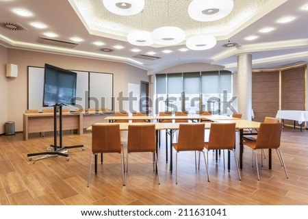 Modern conference room interior - stock photo