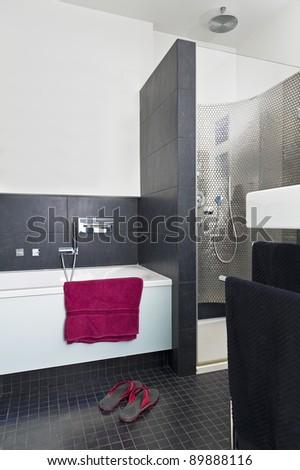 Modern contemporary bathroom interior design - stock photo