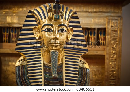 Modern copy of Tutankhamen's funerary mask.
