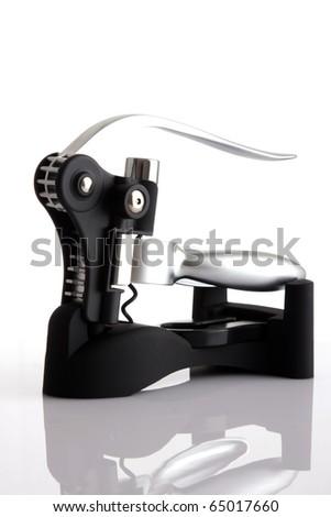 modern corkscrew - stock photo