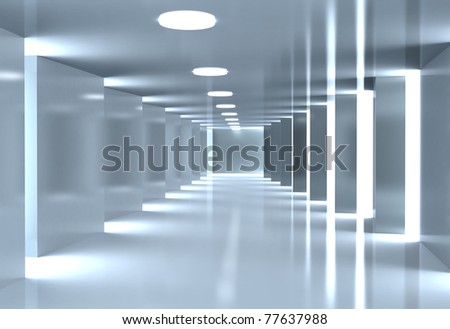 Modern corridor - stock photo