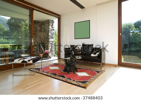 modern country house - stock photo