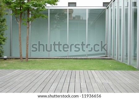 modern courtyard - stock photo