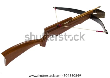 modern crossbow under the white background