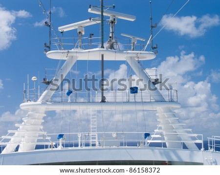 Modern cruise ship in the Caribbean Sea. - stock photo