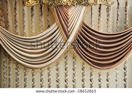 Modern curtain - stock photo
