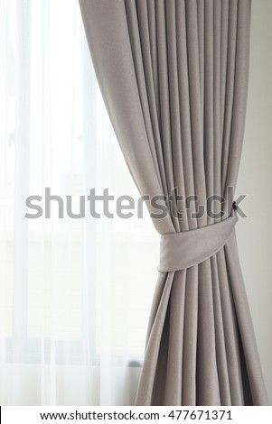 Modern curtain and window