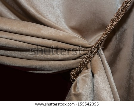 Modern curtains - stock photo