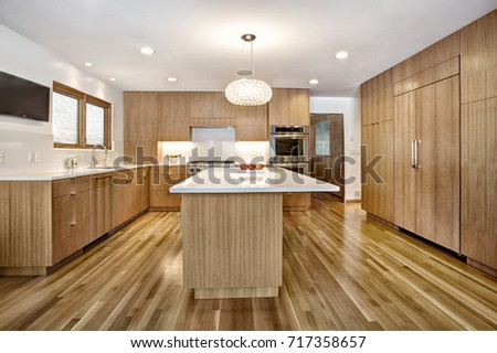 Modern Custom Quarter Sawn White Oak Cabinets In A Modern Home. The Cabinets  Are Designed