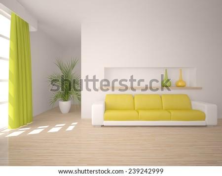 modern 3d interior - stock photo