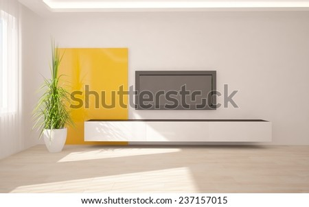 modern 3d interior design - stock photo