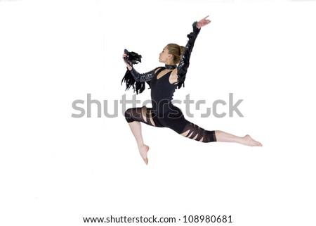 Modern dance, young woman - stock photo