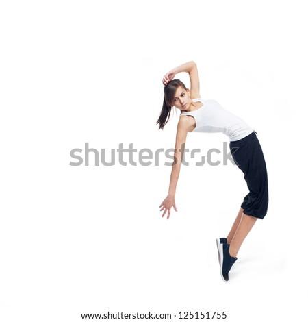 modern dancer girl - stock photo