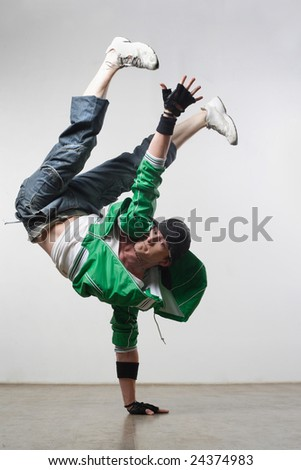 modern  dancer posing - stock photo