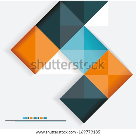 Modern design. Can be used for Book cover, Graphics, Lay out, Content page. Raster version. - stock photo