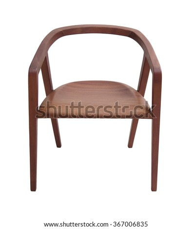 modern design chair isolated on white  - stock photo