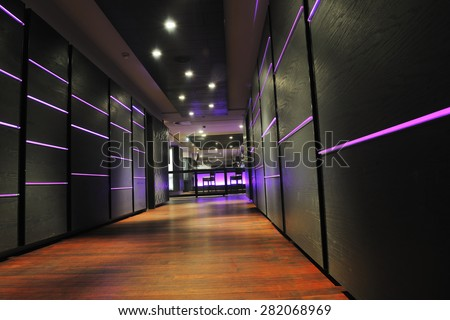 modern design club restaurant bar indoors - stock photo