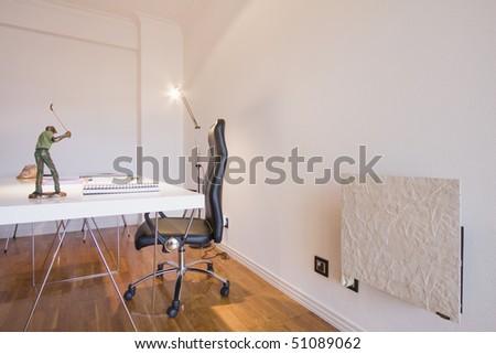 Modern design interior with elegant designed furniture (empty interior) - stock photo