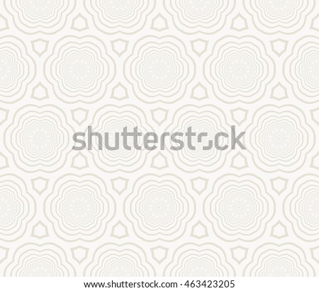 Modern design. Seamless pattern with concentric circles. mirror illustration. For the interior design, printing, wallpaper, textile industry.