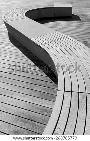 modern design wooden benches handmade - stock photo