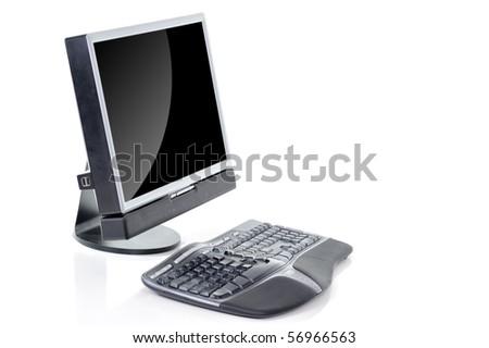 Modern desktop computer - stock photo