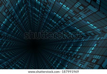 Modern Digital Background as a Creative Art - stock photo