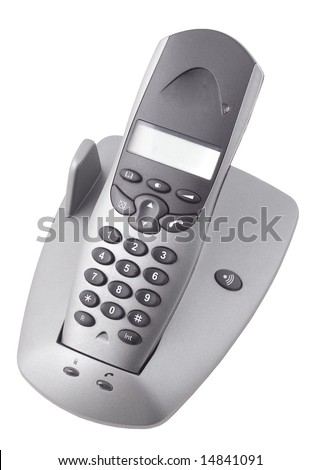 Modern digital IP phone (isolated on white)