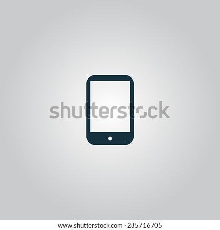 Modern digital tablet PC. Flat web icon or sign isolated on grey background. Collection modern trend concept design style illustration symbol - stock photo