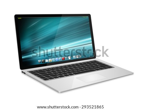 Modern digital tech device on white background