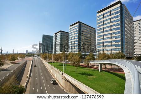 modern district in Barcelona. Spain. - stock photo