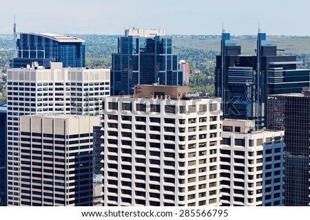 Modern downtown of Calgary. Calgary, Alberta, Canada - stock photo