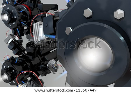 Modern drive - the future of machines - stock photo