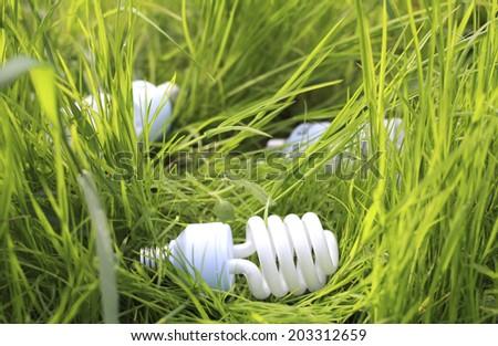 modern ecological energy-saving lighting - stock photo