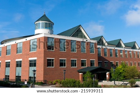 Modern educational/office building on campus  - stock photo