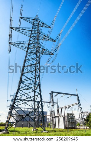 modern electricity power station - stock photo