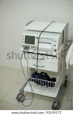Modern electronic equipment at maternity clinic's room - stock photo