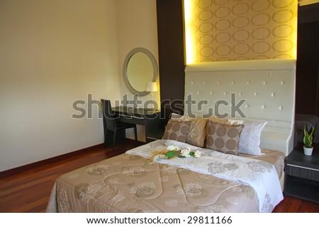 Modern Elegant Bedroom Bed Furniture Stock Photo 29811166 ...