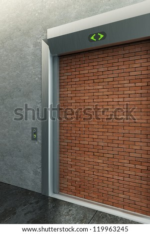modern elevator with deadlock 3d render