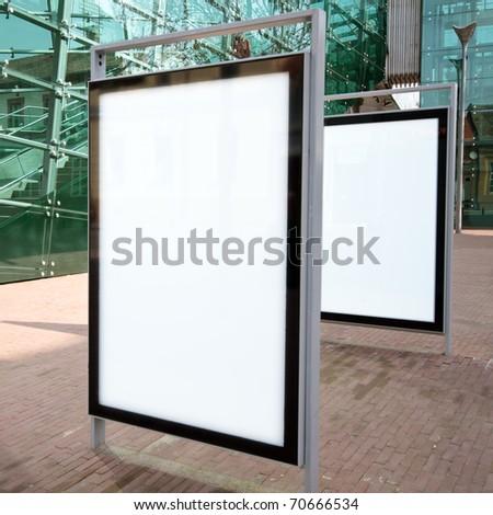 Modern empty advertising billboards - stock photo
