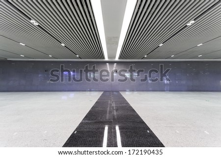 Modern empty hall inside - stock photo