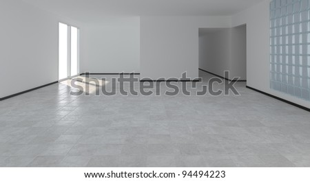 modern empty interior - stock photo