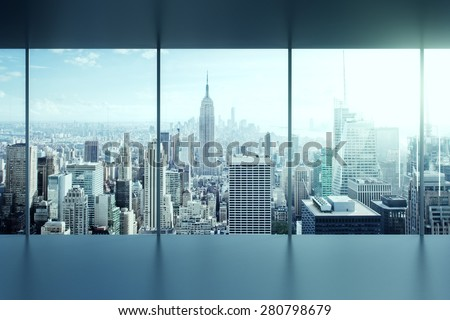 modern empty office interior  - stock photo