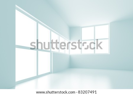 Modern Empty Room - stock photo