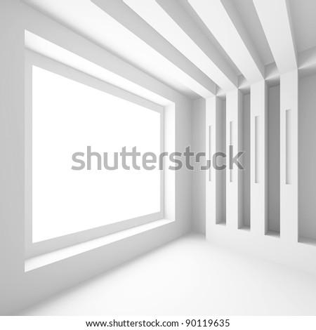 Modern Empty Room - stock photo